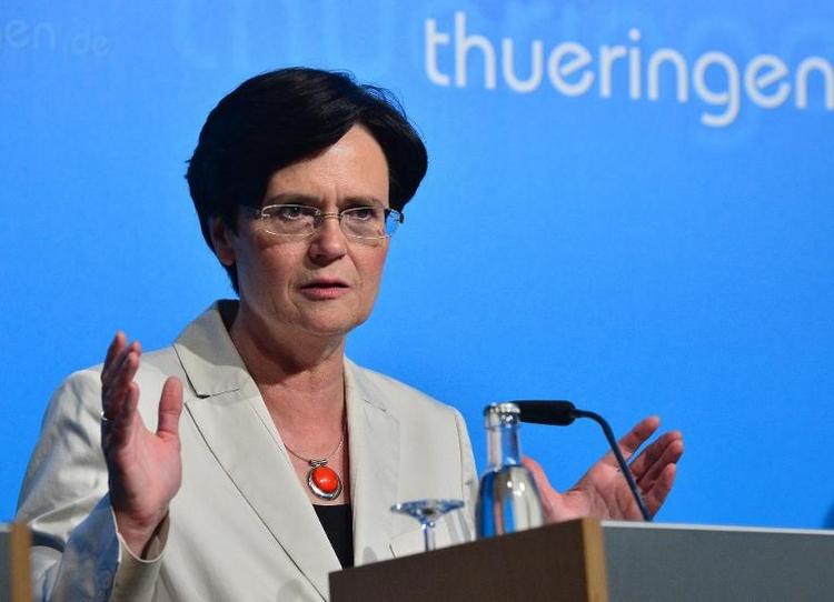 Lieberknecht warnt Bundes-SPD vor Rot-Rot in Thüringen (© 2014 AFP)