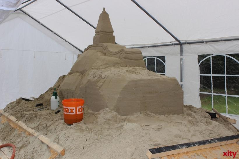 Das Sandkunstwerk des Bildhauers Wladimir Degtyarov (xity-Foto: H.Müller)