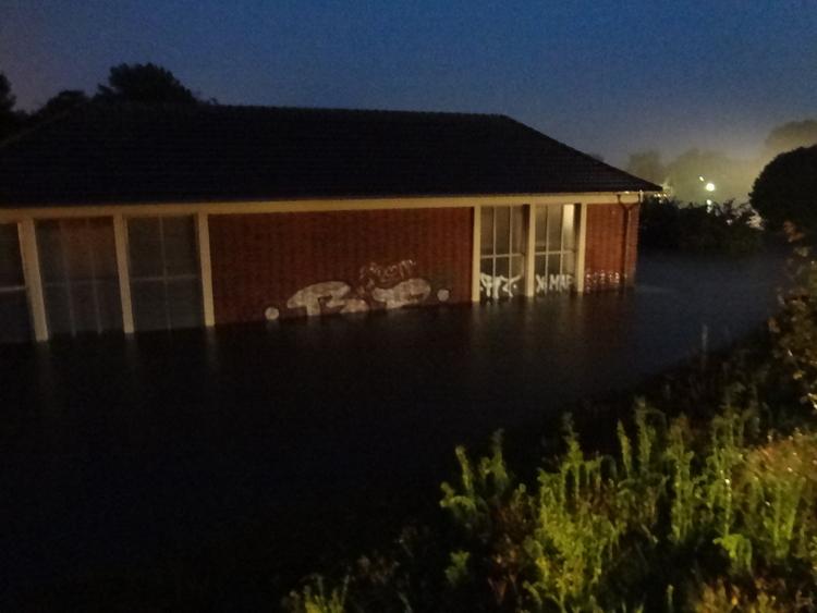 Hochwasserlage im Münsterland kritisch (Foto: Verband der Feuerwehren NRW)