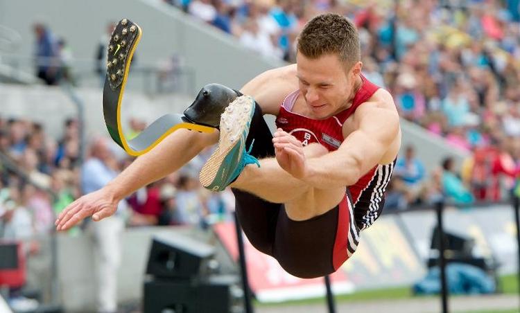 Prothesen-Springer Rehm darf nicht zur Leichtathletik-EM (© 2014 AFP)