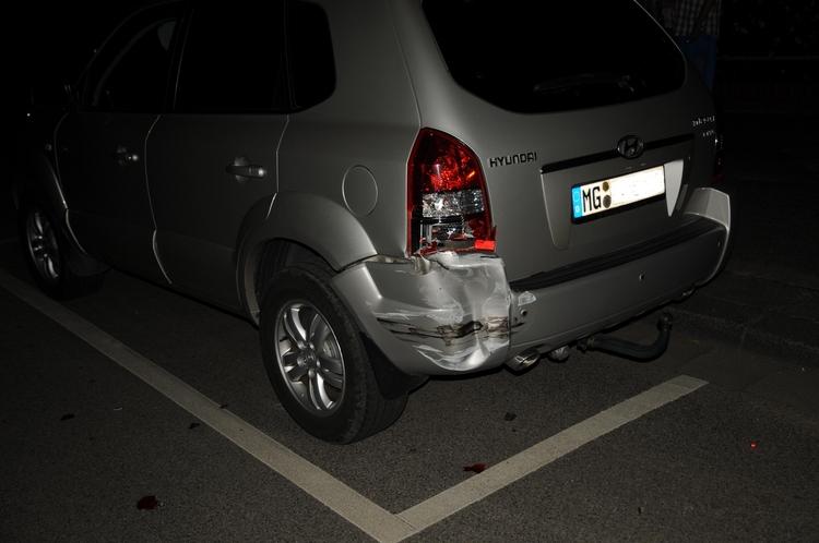 Verkehrsunfallflucht auf der Dohler Straße(Foto:Polizei Mönchengladbach)
