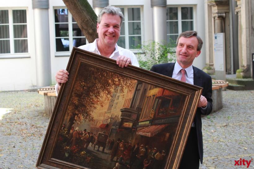 """""""Baum-Versteigerung""""wird zum Happening im Rathaus (xity-Foto: H.Müller)"""