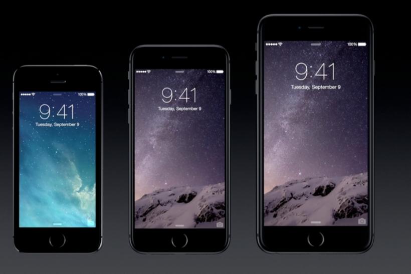 Auch der Größenunterschied zum iPhone 5S ist beachtlich (Foto:Apple)