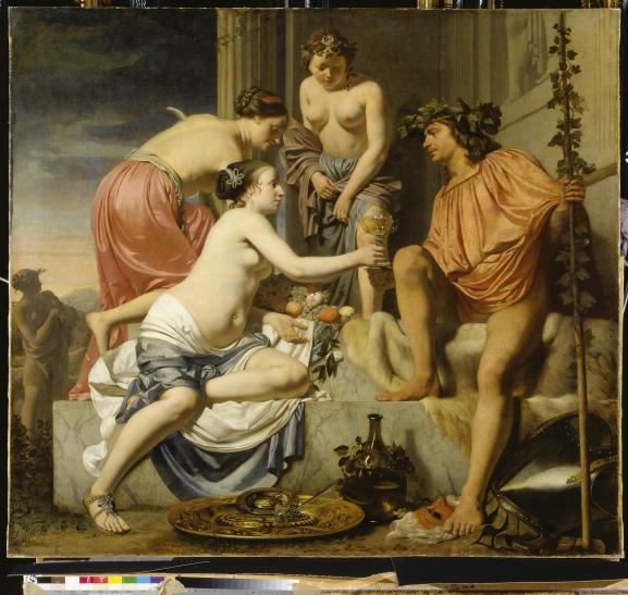 Caesar Boetius van Everdingen - Der thronende Bacchus