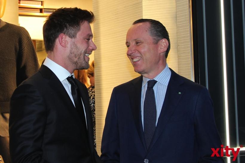 CEO Gildo Zegna und Ken Duken (xity-Foto: H.Müller)