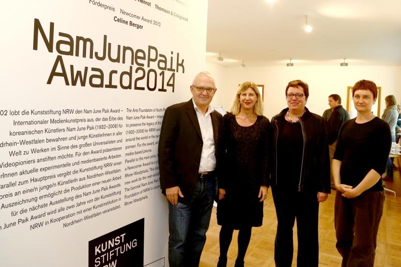 Internationaler Nam June Paik Award 2104 wird in Krefeld verliehen. (Foto: Lothar Strücken)