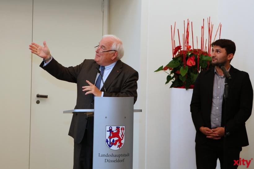 Friedrich G. Conzen (l.) mit Lehrer und Dolmetscher Alp Arslan Güven (xity-Foto: D. Creutz)
