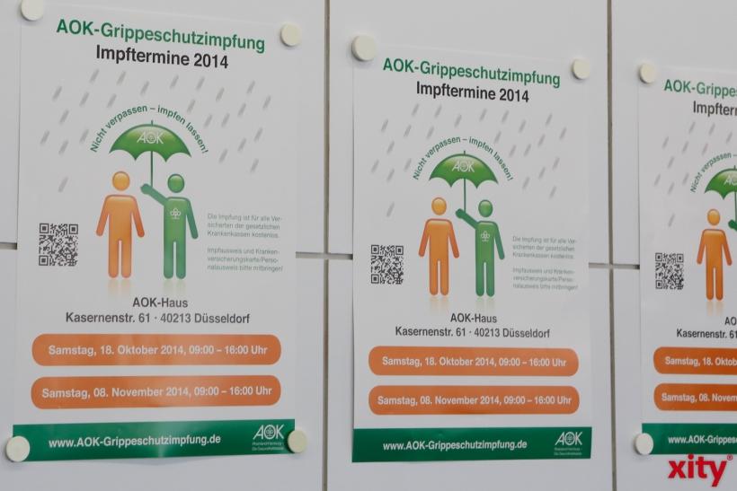 Die AOK bietet zwei öffentliche Termine zur Impfung an (xity-Foto: D. Creutz)