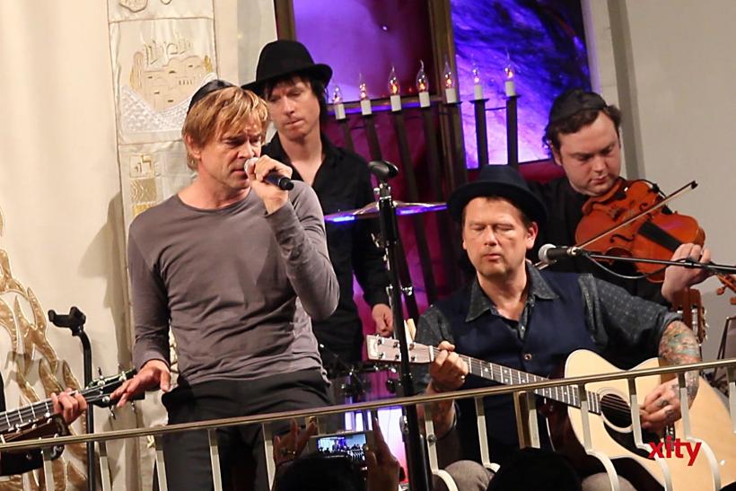 """Als Ausklang des Abends spielten die Toten Hosen einige Auszüge aus der Konzertreihe """"Willkommen in Deutschland"""" (xity-Foto: P. Basarir)"""