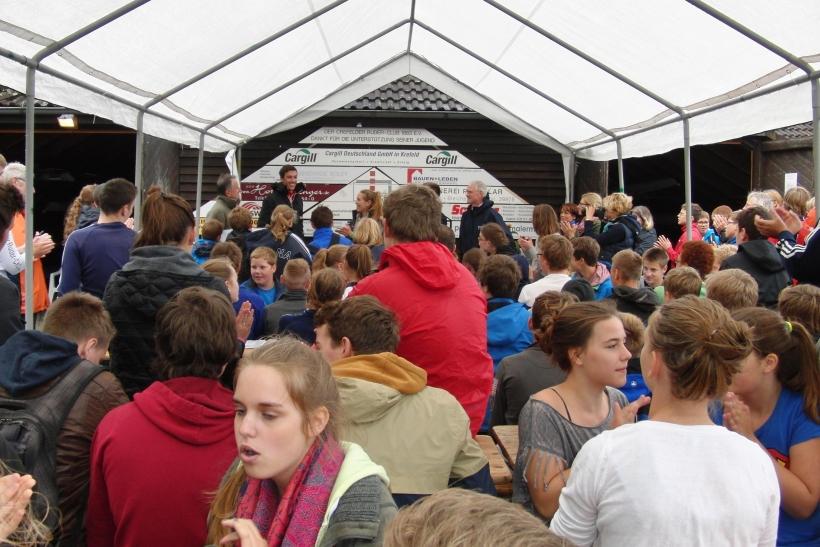 Krefelder Stadtschulmeisterschaften im Rudern. (Foto: W. Jansen)