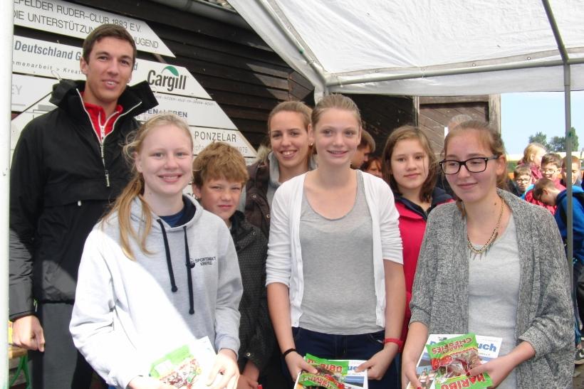 Sieger Gig Vierer Fabritianum 1 vl. Marc Leske Mitte und Lisa Schmilda. (Foto:  W. Jansen)