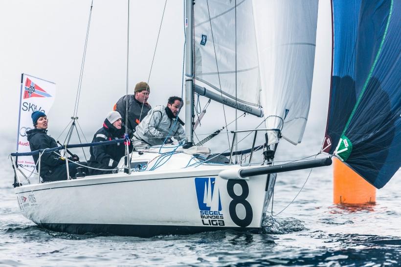 Die Crew um Steuermann Wolfgang Panuschka erreichte bei der Regatta Platz 5 und damit Platz 2 in der Gesamtwertung der Saison 2014. (Foto: DSBL/Lars Wehrmann)