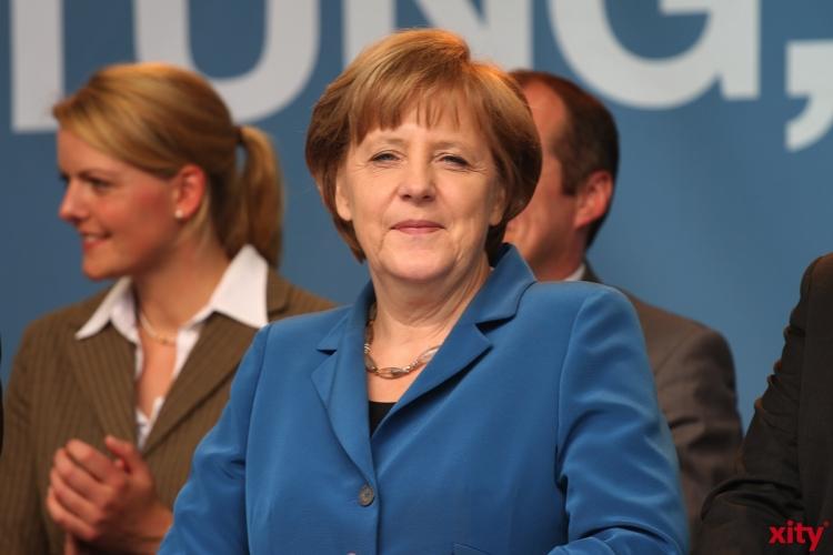 Bundeskanzlerin Angela Merkel nimmt an der zentralen Feier zum Tag der Deutschen Einheit in Hannover teil (xity-Foto: M. Völker)