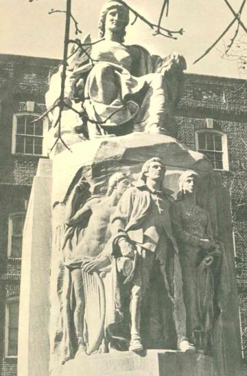 Das im Jahr 1920 in Germantown enthüllte Denkmal zur Erinnerung an die ersten deutschen Siedler in Nordamerika. (Foto: Stadt Krefeld)