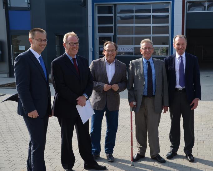 Zum 15. September 2014 ist der erste Mieter in den neu erbauten Gewerbepark eingezogen. Mindestens drei weitere Unternehmen werden bis Anfang nächsten Jahres folgen. (Foto: M. Rentergent)