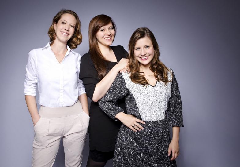 Die Neue Abteilung für junges Publikum: Anna-Mareike Vohn, Anja Fürstenberg, Krysztina Winkel (Foto: Klaudia Taday)