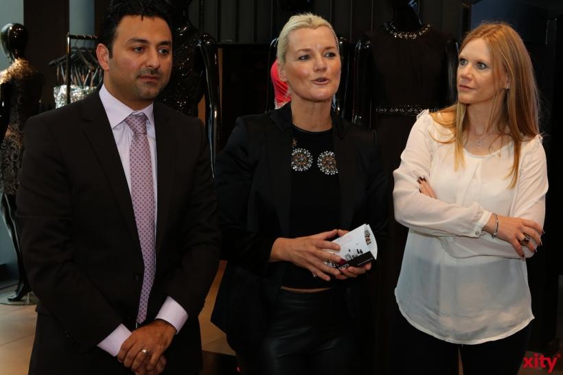 Shahin Moghadam, Alexandra Iwan und Nicola Knüwer (v.l.) stellten die 1. Kö-Bogen Lifestyle Night vor (xity-Foto: D.Creutz)