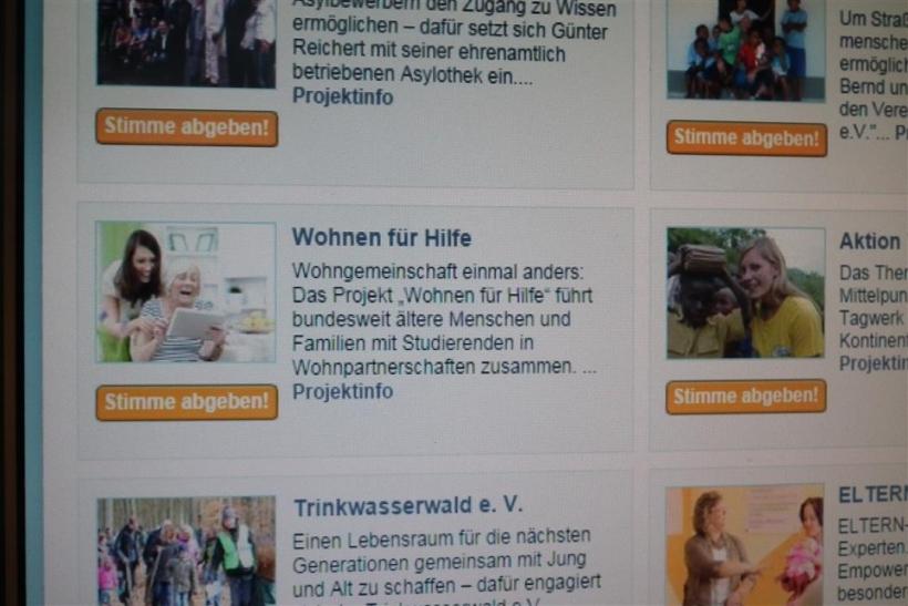 """Der Bundeskoordinationskreis """"Wohnen für Hilfe"""" steht als einer von 15 Finalistinnen und Finalisten für den Publikumspreis des Deutschen Engagementpreises 2014 zur Wahl (xity-Foto: D. Postert)"""