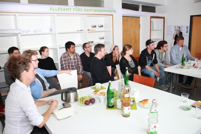 Mittlerweile arbeiten vor Ort 20 Unternehmen mit 50 Mitarbeitern die vorwiegend aus dem kreativen Bereich stammen und Ihre Zukunft im Quartier sehen. (xity-Foto: E. Aslanidou)