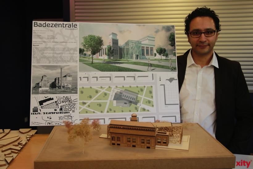 Den dritten Platz machte Naoufal Kannoufi mit seinem Konzept der Badezentrale (xity-Foto: P. Basarir)