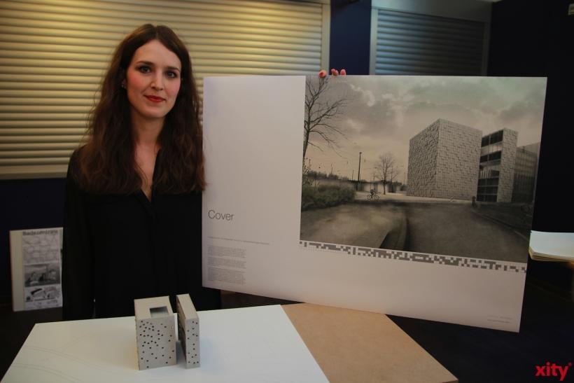 Der zweite Platz ging an Anna Kristin Vonkeloe mit ihrem Konzept einer Blindenschule (xity-Foto: P. Basarir)