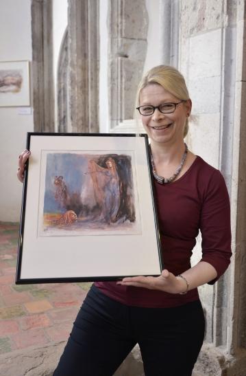 """Im Museum Burg Linn wird am Sonntag, 19. Oktober 2014, die Ausstellung """"Das verlorene Volk. Gestalten aus Dantes Inferno"""" der Krefelder Künstlerin Edith Wimmer eröffnet. (Foto: L. Strücken)"""