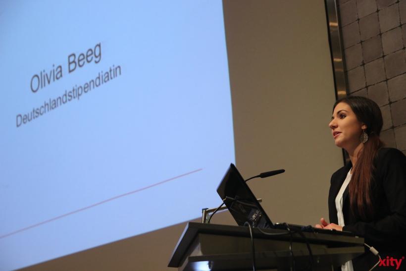 Deutschlandstipendiatin Olivia Beeg erzählte über gemachte Erfahrungen (xity-Foto: P.Basarir)