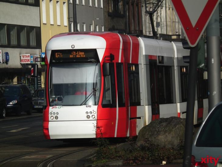 Gleisarbeiten: Busse statt Straßenbahnen auf Teilen der 041. (xity-Foto: E. Aslanidou)