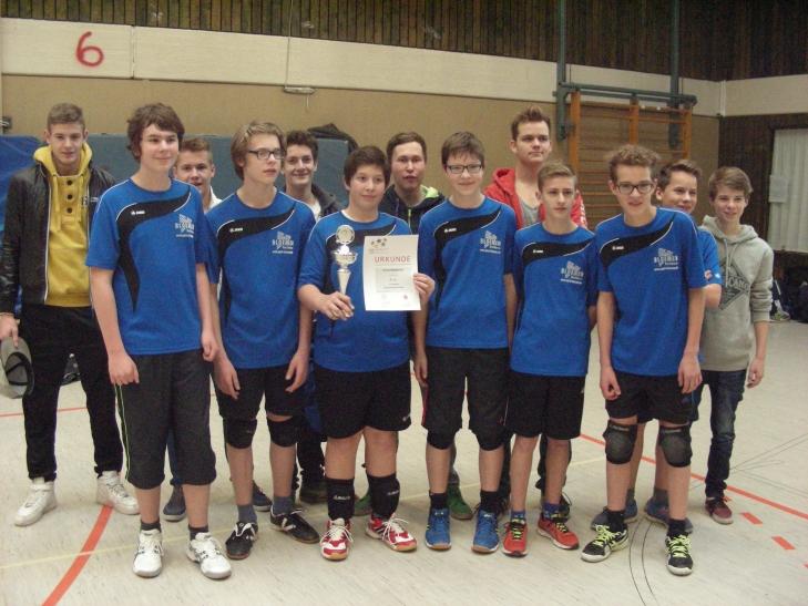 Die erfolgreichen Volleyballer von der Waldorfschule. (Foto: Stadt Krefeld)