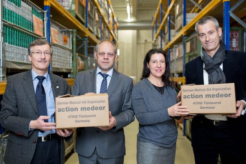 Manfred Hoth, Bernd Pastors, Dr. Angela Zeithammer und Michael Becker (Foto: Susanne Diesner)