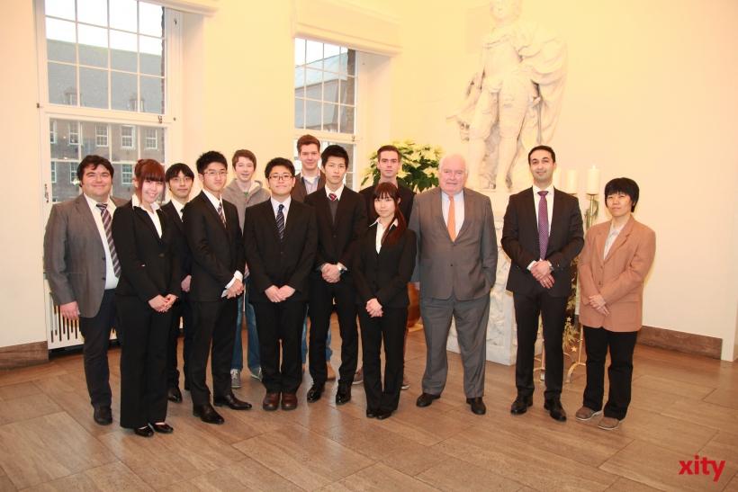 Bürgermeister Conzen empfing japanische Studenten der Fachschule Kisarazu (xity-Foto: P. Basarir)