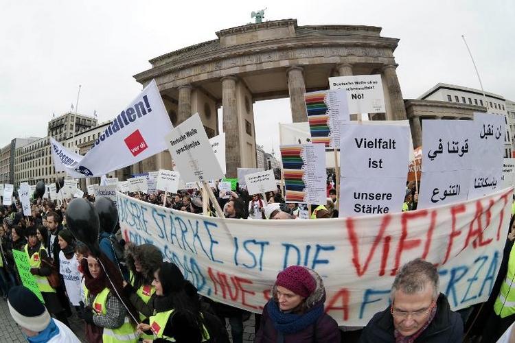 Bundestag fordert Finanzierung der Deutschen Welle (© 2014 AFP)