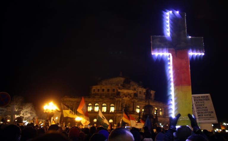 Ex-EKD-Chef: Christen haben bei Pegida nichts zu suchen (© 2015 AFP)
