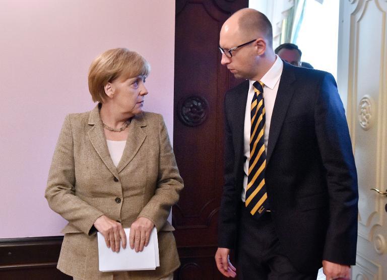 Ukrainischer Ministerpräsident ab Mittwoch in Berlin (© 2015 AFP)