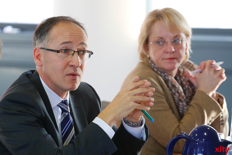 Roland Schüßler (l.) und Sigrid Wolf(xity-Foto: D. Creutz)