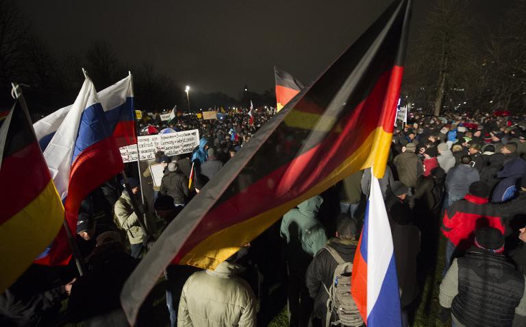 Polizeigewerkschaft: Pegida-Proteste anschlagsgefährdet (© 2015 AFP)