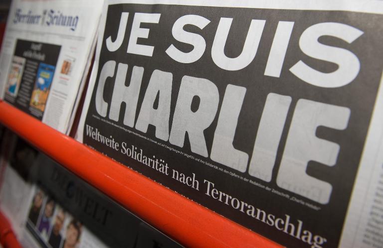 """Deutsche Medien solidarisieren sich """"Charlie Hebdo"""" (© 2015 AFP)"""