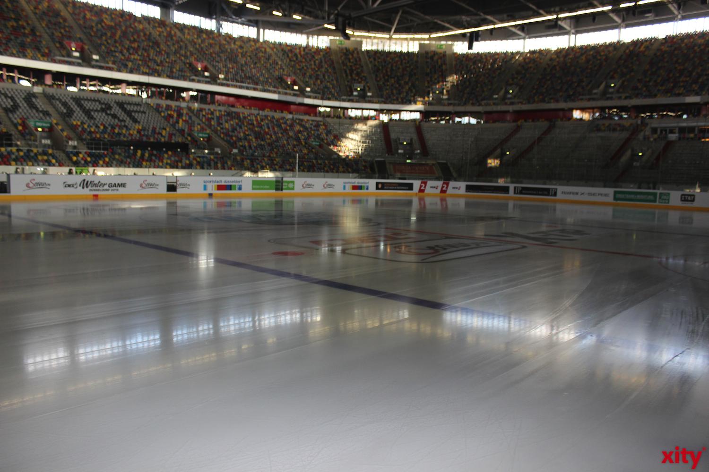 Auf dieser Eisfläche wird das 206. DEG vs. KEC Derby stattfinden (xity-Foto:A.Obreiter)