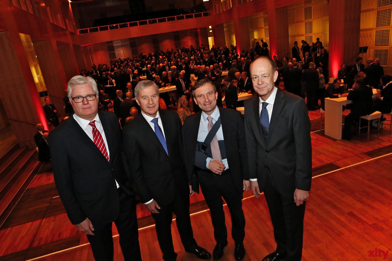 v.l. Martin Renker, Jürgen Fitschen, Thomas Geisel und Stefan Märkl (xity-Foto: D.Creutz)