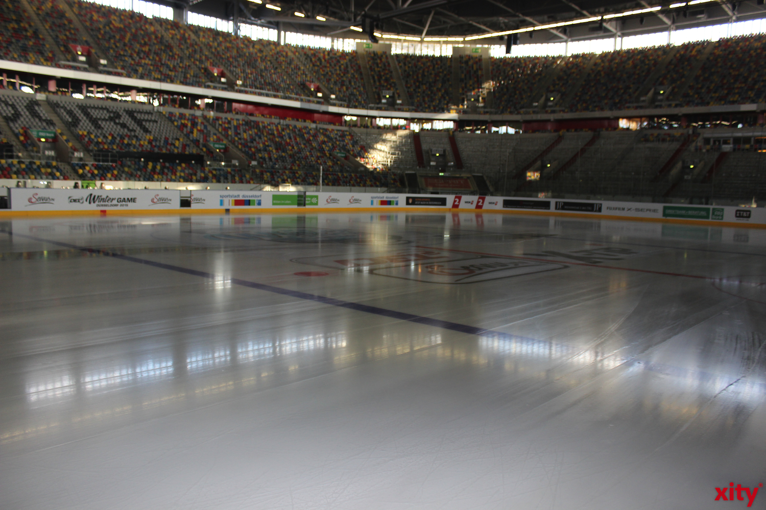The 206. derby against DEG vs. KEC will take place on this ice surface. (xity-photo:A.Obreiter)