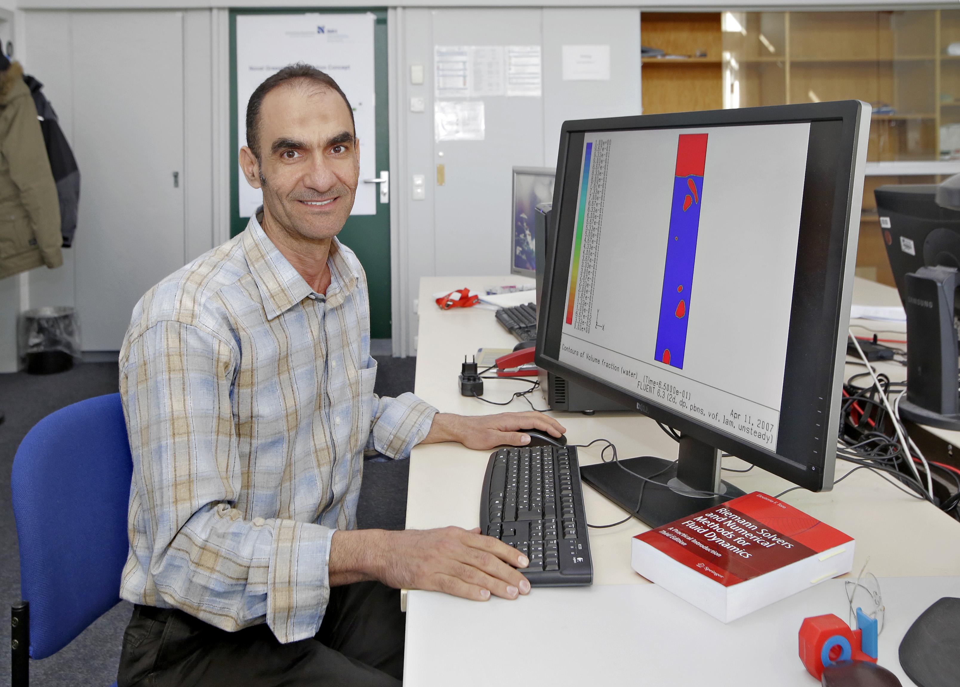 Dr. Dia Zeidan im Institut für Modellbildung und Hochleistungsrechnen an der Hochschule Niederrhein (Foto: Hochschule Niederrhein)