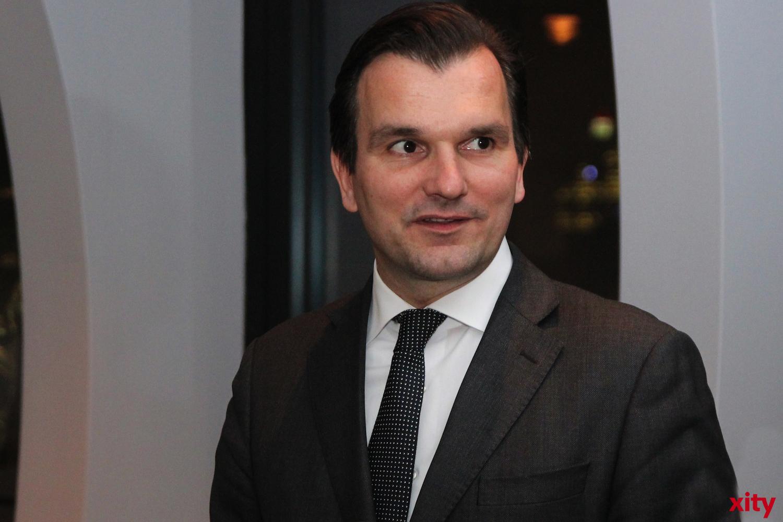 Axel Ziegler (Pressesprecher des Medienhafen e.V.) begrüßte die Gäste (xity - Foto: A.Meyer)