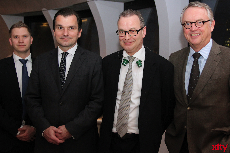 v.l. Bastian Röming, Axel Ziegler, Heinz-Theo Durst und Dr. Michael Tigges  (xity - Foto: A.Meyer)