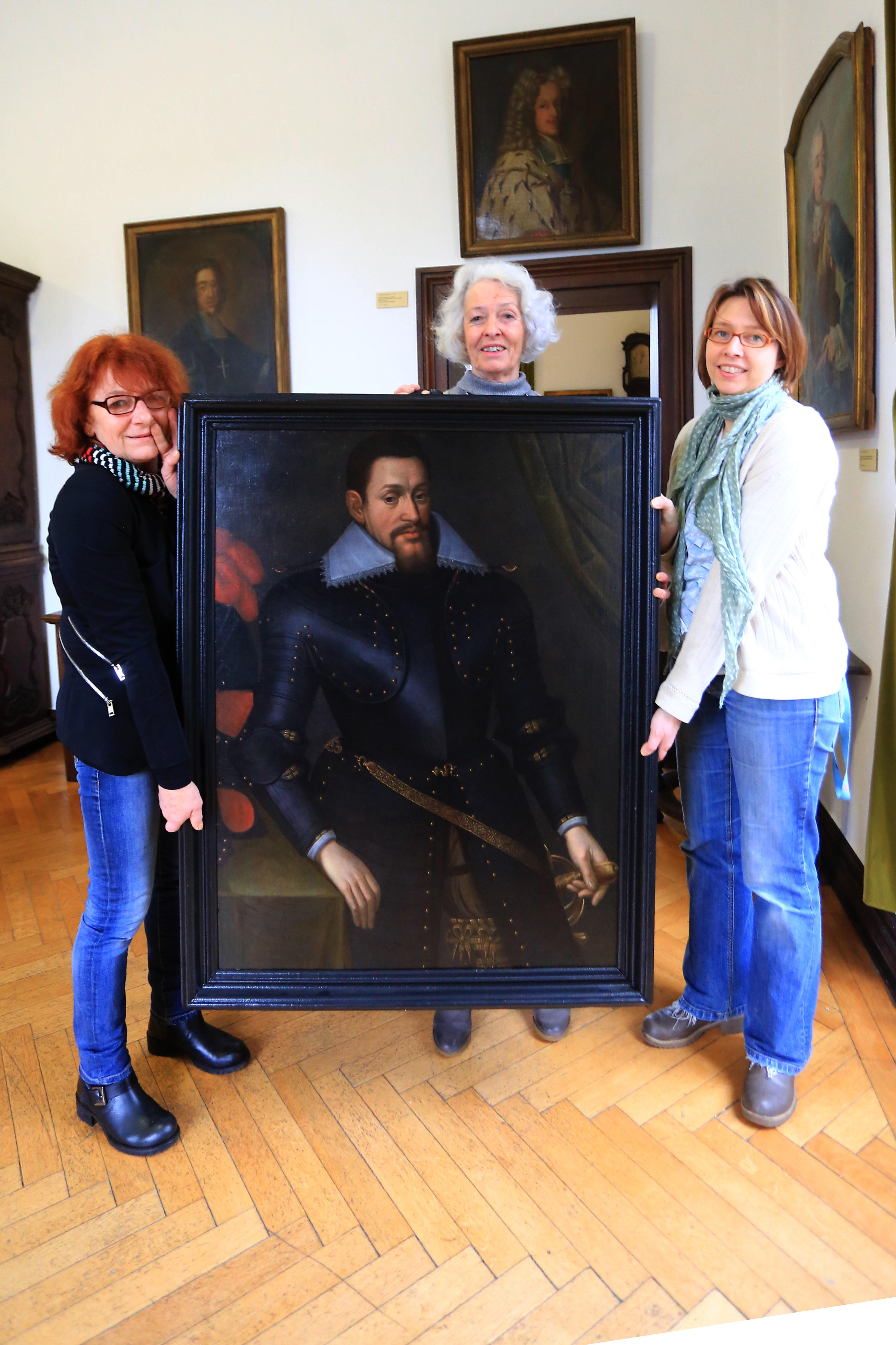 Portrait-Restaurierung im Jagdschloss beendet (Foto: Stadt Krefeld)