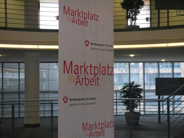 Nach dem Anstieg der Arbeitslosigkeit im Januar erhöhte sich die Zahl der Arbeitslosen in Düsseldorf nochmals leicht im Februar (xity-Foto: D. Postert)