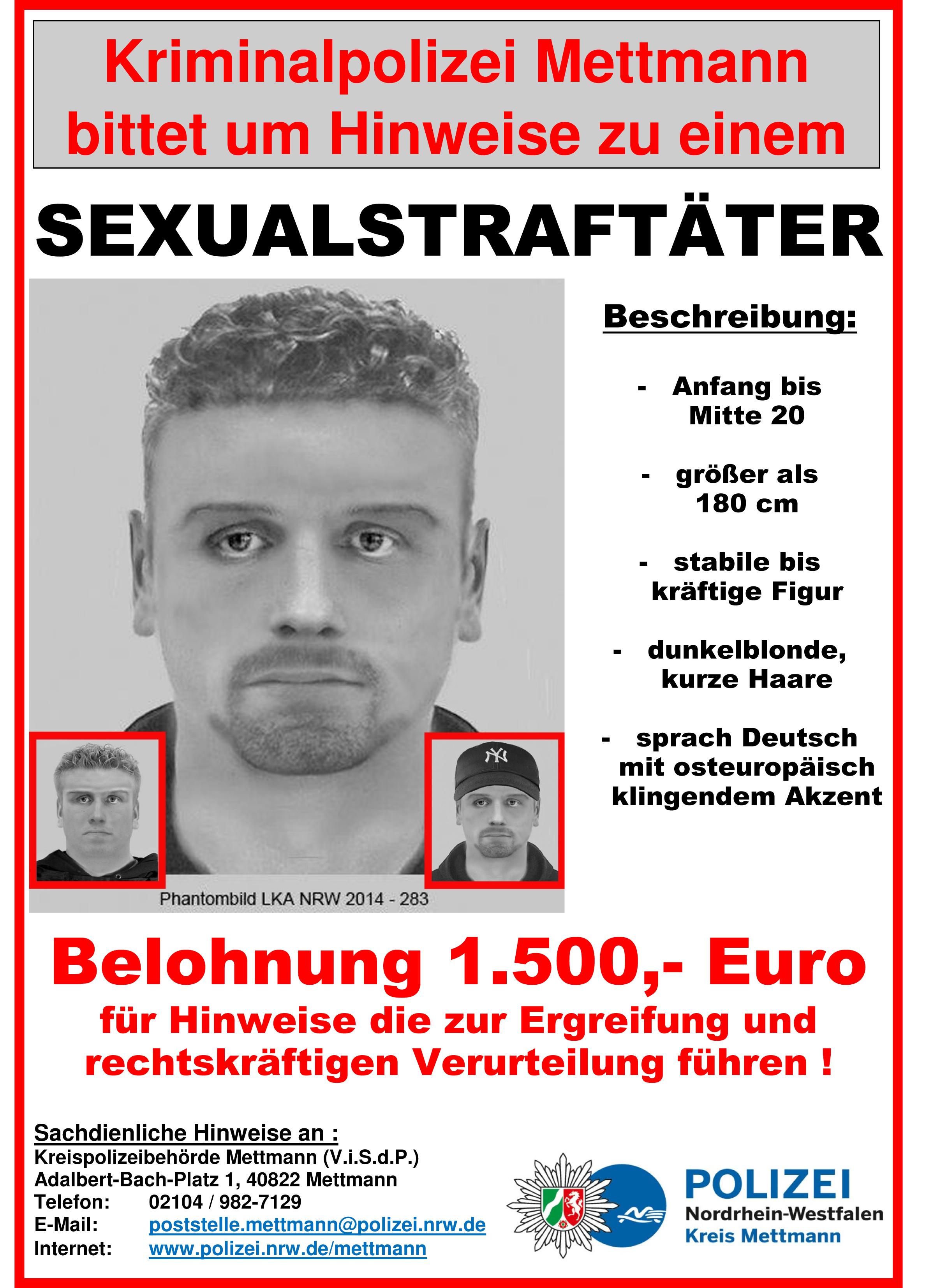 Intensive Suche nach Sexualstraftäter geht weiter  (Foto: OTS)