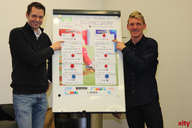 Auslosung der u19 Champions Trophy Gruppen (xity-Foto: H.Müller)