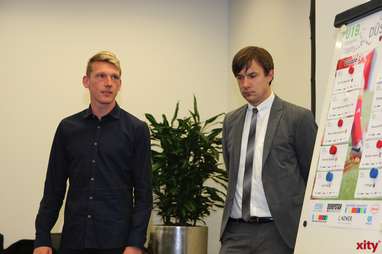 Axel Bellinghausen und Marcus Giesenfeld sprachen über die vorherigen U19 Champions Trophy Tuniere (xity-Foto: H. Müller)