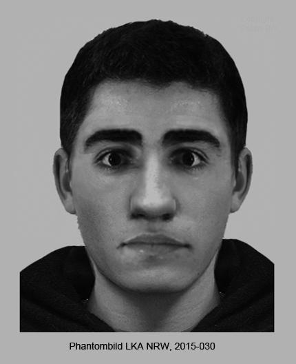 Polizei fahndet mit Phantombild nach jungem Täter (Polizei Düsseldorf)
