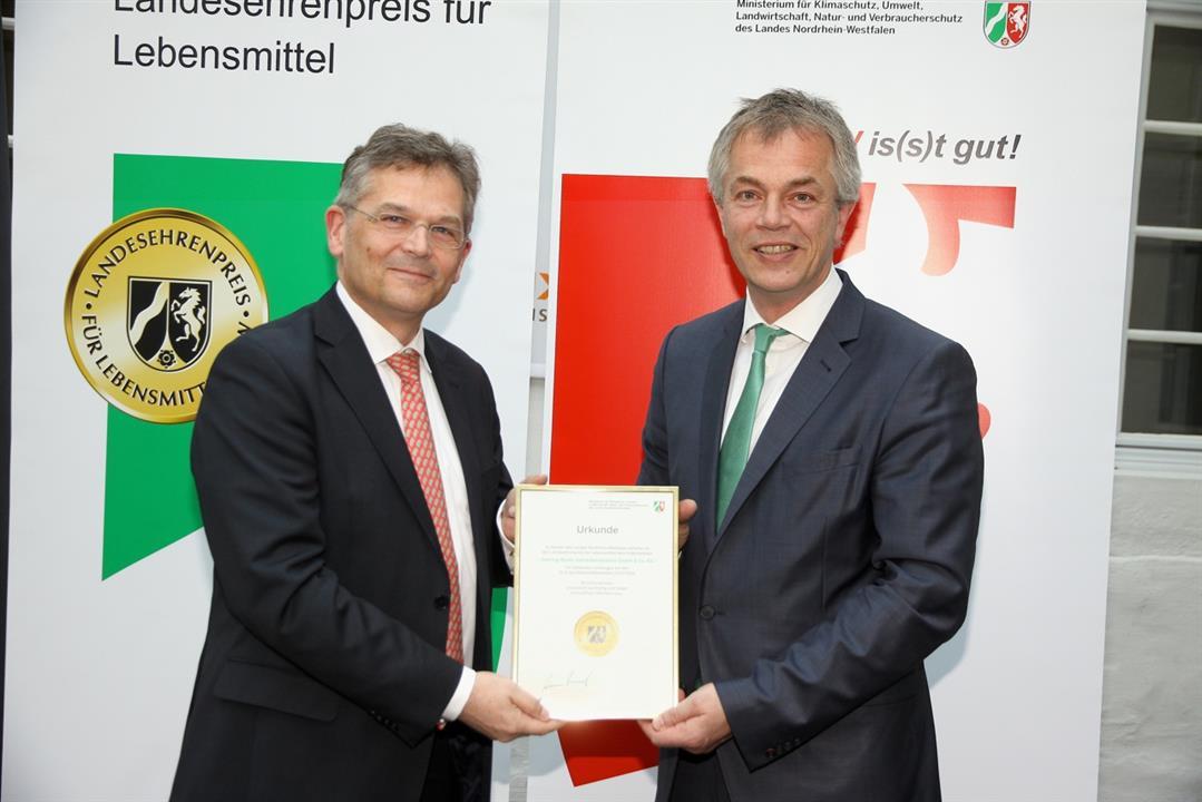 Für Christinen Brunnen nahmen Geschäftsführer Carsten Thomas Heß den Preis entgegen (Foto: Gehring-Bunte Getränke-Industrie GmbH)
